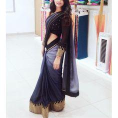 pure rangoli embroidered partywear saree - Saree Fabric: * Pure Rangoli 0 to 100 shade* Saree Size : Sari Bluse, Indische Sarees, Satin Saree, Velvet Saree, Simple Sarees, Stylish Sarees, Elegant Saree, Party Wear Sarees, Chiffon Saree Party Wear
