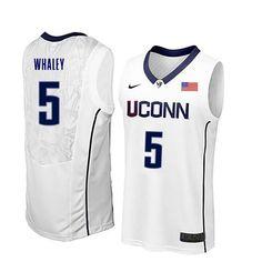 fcbfd083828 Men Uconn Huskies #5 Isaiah Whaley College Basketball Jerseys-White Uconn  Huskies Basketball,