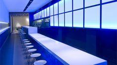 Bar Space. Coloured Changing Lighting. Plató Restaurant a Barcelona. FFWD Arquitectes www.ffwd.es
