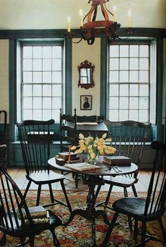 Nice Colonial look and Great Windsor chairs.