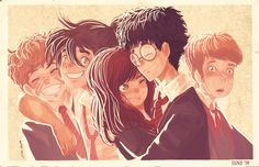 The Marauders and Lily - Memories from the past.