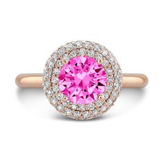 Dafina Diamond Roll (Pink Sapphire with Diamonds) on dafinajewelry.com #engagementrings #rings