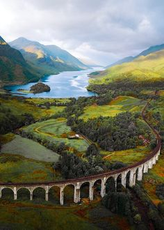 At the Glenfinnan Viaduct in Scotland. At the Glenfinnan Viaduct in Scotland. Places Around The World, Oh The Places You'll Go, Places To Travel, Places To Visit, Nature Photography, Travel Photography, Scotland Travel, Scotland Nature, Scotland Vacation