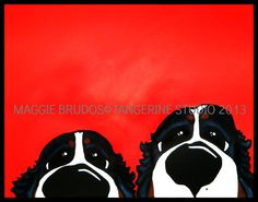 bernese mountain dog STALKERS counter surfers by tangerinestudio, $95.00