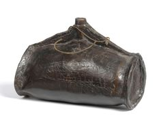 Tennants Auctioneers: A Leather Costrel 18th century