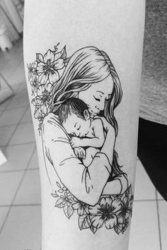 Baby Tattoos For Moms 543739355013398305 - Source by melanybraun Motherhood Tattoos, Mommy Tattoos, Family Tattoos, Sexy Tattoos, Unique Tattoos, Beautiful Tattoos, Body Art Tattoos, Girl Tattoos, Sleeve Tattoos
