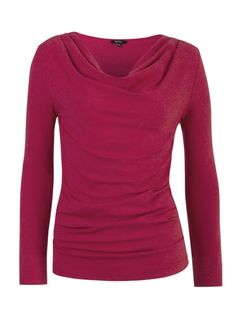 I love this Cowl Neck Top-the color, style and texture (with the subtle shimmer).