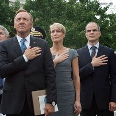 House of Cards, Season 4 - In 2016, reality truly is stranger than fiction, and it may be tough forHouse of Cards'fictional politics to compete with what's going on inreal life. Still, Frank Underwood's world of endless scandal is irresistible, and we're excited to see even more from Claire this season and meet her newest aide, played by Neve Campbell.