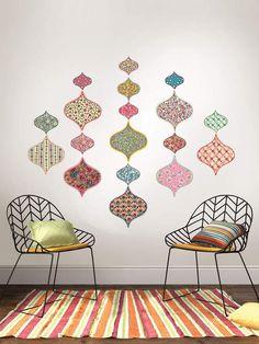 How cute is the Boho Wall Art kit? Perfect for rental properties or dorm rooms! #bohochic #bohobedroom #ad #boho #bohodecor