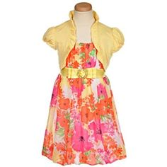 """My Michelle """"Oasis"""" Dress with Shrug (Sizes 7 - 16)"""