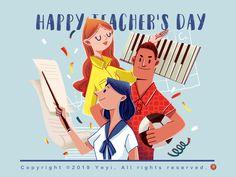 Happy Teacher s Day! in 2020 Teachers day drawing Teachers day poster Teachers illustration