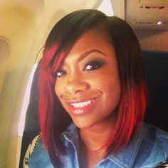 kandi hair New Do Alert: Kandi Burruss Keeps It Red But Chops It Up [Pics] Afro Kinky Hairstyles, Bob Hairstyles, Straight Hairstyles, Hairstyle Pics, Short Haircuts, Curly Hair Styles, Natural Hair Styles, Marley Hair, Red Hair Don't Care