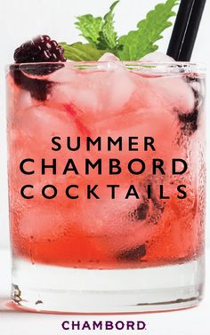 Choose your recipe. Whichever you like. Find your ingredients. Pour into a glass. And voila, now you've got a delicious drink to sip on this summer! Check out this collection of 8 Blackberry Cocktails to discover a variety of different Chambord® combinati Holiday Drinks, Party Drinks, Fun Drinks, Beverages, Summer Cocktails, Cocktail Drinks, Cocktail Recipes, Cocktail Parties, Raspberry Margarita