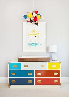Cute multi campaign dresser, Picasso drawing, mobile