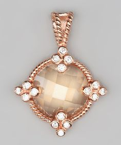 Take a look at this Champagne Cubic Zirconia Circular Pendant by Jewelry Like the Rich on #zulily today!