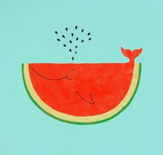 watermelon whale! #cartoon #graphic