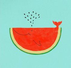 watermelon whale! #cartoon #graphic