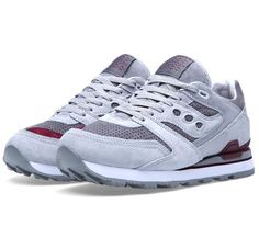 7b119c221c52 White Mountaineering x Saucony Courageous - Grey   Dark Red