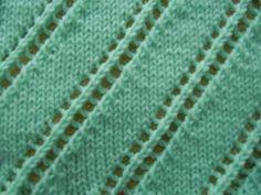 Lacy Diagonals Knitting Pattern