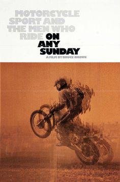 Le Motocyclsime avec McQueen dans On any Sunday.