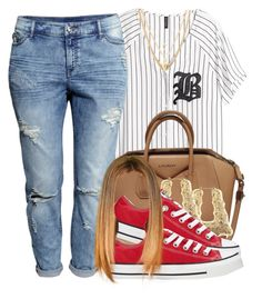 """Untitled #397"" by princess-miyah ❤ liked on Polyvore featuring H&M, Givenchy, Converse and Ettika"
