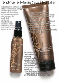 Younique now offers Self tanning spray and lotion!!! Now you can look tan without the sun! Http://www.youniqueproducts.com/SandraHarms