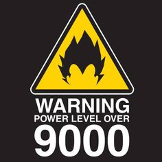Warning 9000 T-Shirt $9.99 Dragon Ball tee at Pop Up Tee!