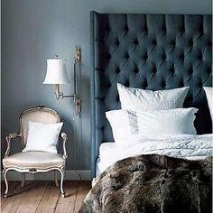 Velvet Tufted Headboard - Contemporary - bedroom - Morgan Harrison Home