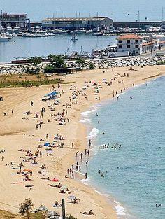 The beach of Arenys de Mar..❤