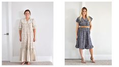 It's so easy to get rid of old clothes. Check out how I refashioned mine instead. Sleepwear Sets, Loungewear Set, Diy Lace Up, Blue Dresses, Summer Dresses, Sweater Refashion, Old T Shirts, How To Dye Fabric, Diy Clothing