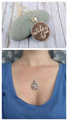 Wife jewelry Anniversary gift for woman Wedding jewelry Wifey necklace Love gifts