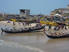 accra, ghana - we have some paintings of boats like these