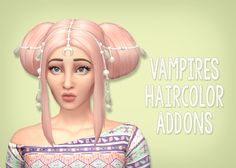 Simsrocuted: Vampires hair color add-on - Sims 4 Hairs - http://sims4hairs.com/simsrocuted-vampires-hair-color-add-on/