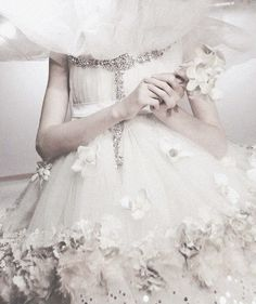 white designer dress bride