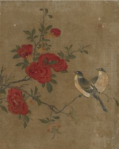 Birds and flowers   1368-1644   Ming dynasty   Ink and color on silk   China   Gift of Charles Lang Freer   Freer Gallery of Art   F1911.165g