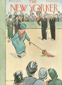 The New Yorker - Saturday, February 8, 1936 - Issue # 573 - Vol. 11 - N° 52 - Cover by : Helen E. Hokinson