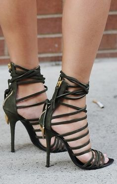 Sexy strapped heels