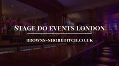 Do you want to ultimate stag do events in London, from nightclubs? Online Book for your stag events from the UK. Contact Today Browns Shoreditch call us at 0207 490 London Clubs, Stage Show, Night Club, Books Online, Neon Signs, Events