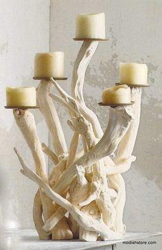 Roost Driftwood Candelabra - Vertical