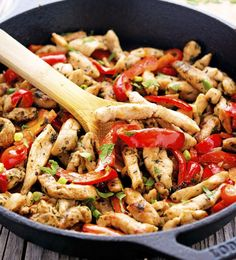 Skillet Chicken Fajitas from The Iron You