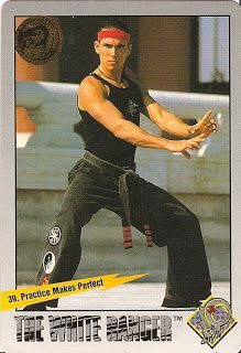 Tommy Oliver/JDF trading card. Pretty sure this shot was from the Cybertron pilot and not Power Rangers. #mmpr