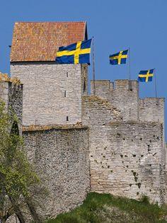 Visby on Island of Gotland, Sweden Sweden Stockholm, Kingdom Of Sweden, Swedish Flag, Visit Sweden, Sweden Travel, Italy Travel, Scandinavian Countries, Alaska, Norway