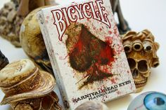 Karnival Dead Eyes Deck by Big Blind Media Bicycle Cards, Bicycle Playing Cards, House Of Cards, Deck Of Cards, Card Deck, Poker, Unique Playing Cards, Card Companies, Serial Killers