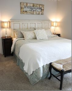 18 Beautiful Bedrooms that Inspire // Home Decor Ideas - Setting for Four
