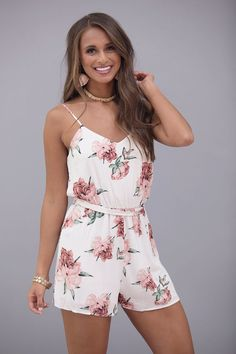 Admiring Your Love Floral Romper