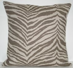 My throw pillows. My Den and Living room is done in Zebra print.