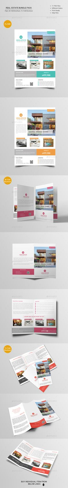 Real Estate Bundle Pack Template #design #printdesign Download: http://graphicriver.net/item/real-estate-bundle-pack/12098306?ref=ksioks