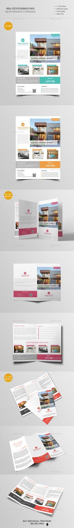 Real Estate Bundle Pack Template #design #printdesign Download: http://graphicriver.net/item/real-estate-bundle-pack/12098306?ref=ksioks