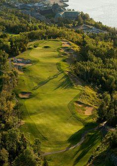 The impressive view over the golf course at Fairmont Le Manoir Richelieu! @FairmontManoir @FairmontHotels
