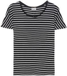 Saint Laurent Striped Silk T-shirt For Spring-Summer 2017